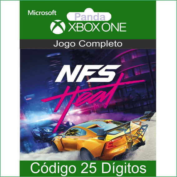 Need For Speed Heat Codigo 25 Digitos Para Xbox One Em 12x