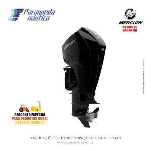 Motor De Popa Mercury 4 Tempos 225hp L Efi V6 Mecânico Preto