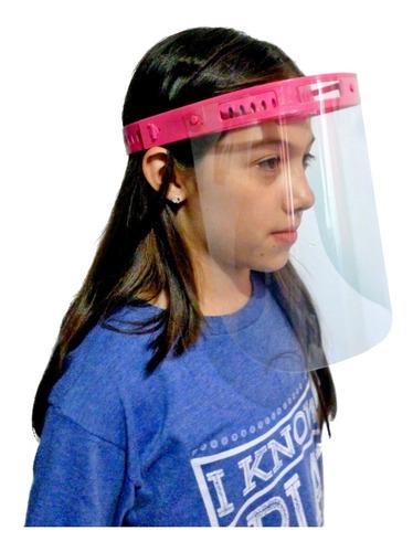 Imagen 1 de 5 de Careta Facial Protectora Para Niño Transparente Niños 5 Pzas