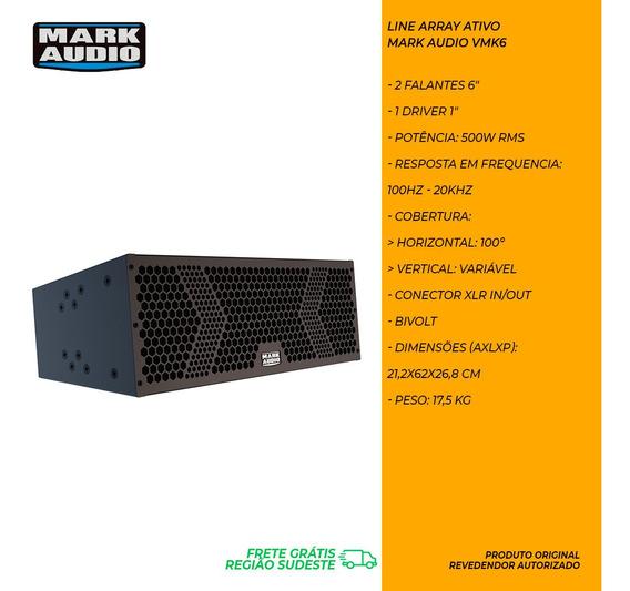 Caixa Line Array Ativo Attack Mark Audio Vmk6 500w