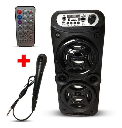 Caixa De Som Bluetooth Portátil  Rádio Pen Drive-  D-s12