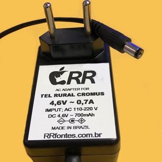 Fonte Carregador 4,6v 700ma Telefone Celular Rural Cromus