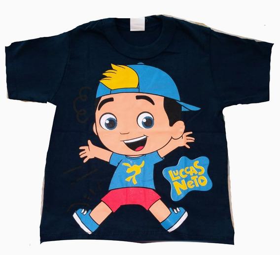 Kit 60 Camiseta Infantil Lucas Neto E Herois Atacado Algodão