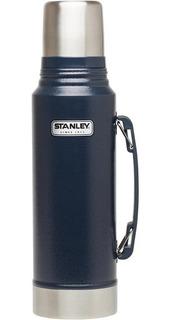 Termo Acero Inoxidable 1lt Stanley C/tapon Cebador Azul