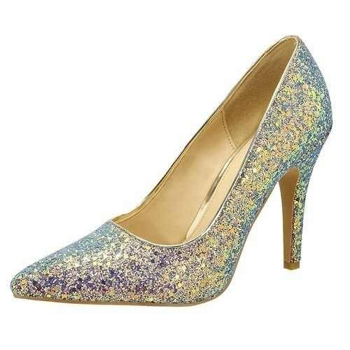 5de84693 Zapatos Color Gris Con Brillos Sin Tacon Mujer Ninas - Zapatos en ...