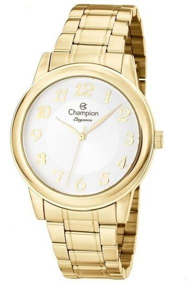 Relógio Champion Elegance Feminino Dourado Cn26804h