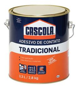 Cascola Adesivo De Contato Tradicional 2,8kg - 3,3l