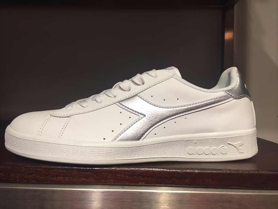 Zapatillas De Dama Diadora Game P Chromium White/silver