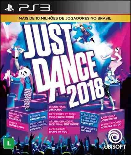 Jogo Mídia Física Just Dance 2018 Dança Do Playstation 3 Ps3