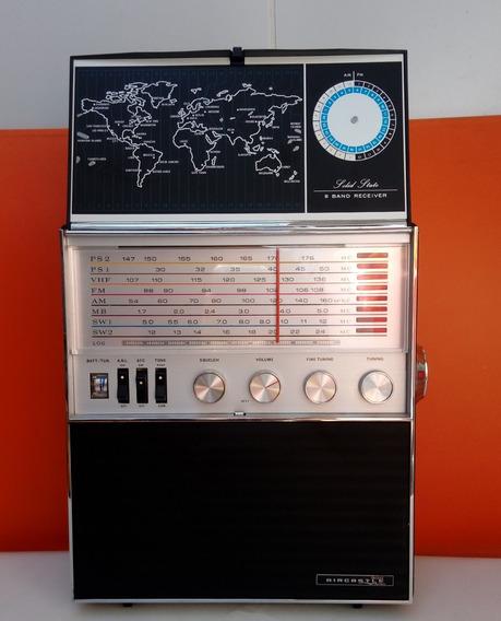 Radio Americano Aircastle Solid State 8 Band Funcionando