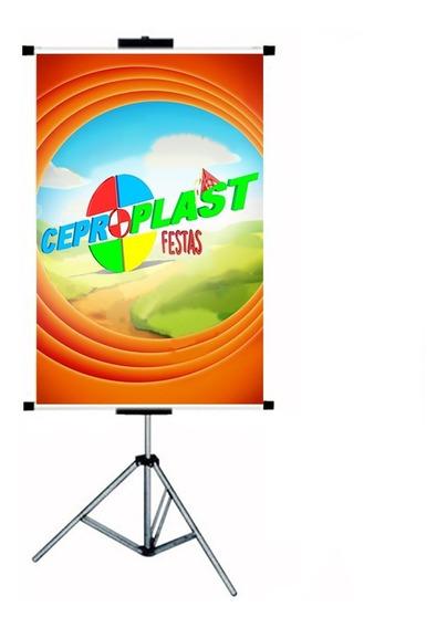 Porta Banner 2,0mt C/ Garras Pedestal Tripé Suporte Imediato