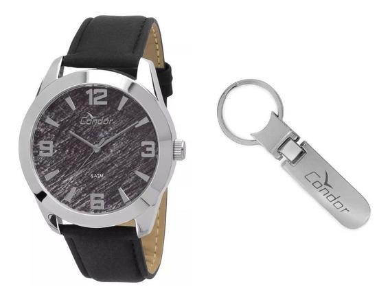 Relógio Feminino Condor Co2035knp/k2 Pulseira De Couro Preto