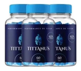 Tittanus Original - 3 Potes = 180caps - Promoção Relâmpago