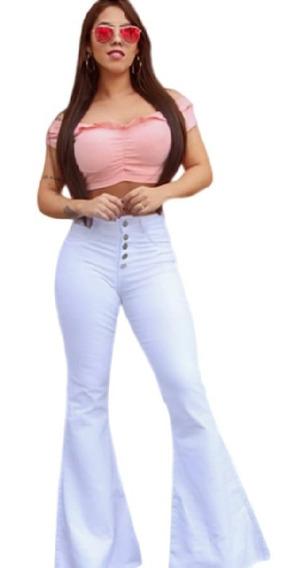 Calça Feminina Maxi Flare Branca Promoção