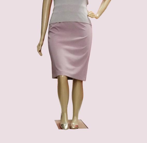 Saia Social Feminina Plus Size Forrada Cintura Alta 623