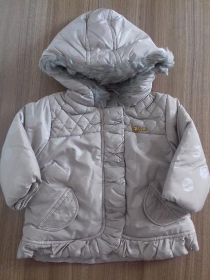 Jaqueta De Bebê Menina Com Capuz Inverno Brandili