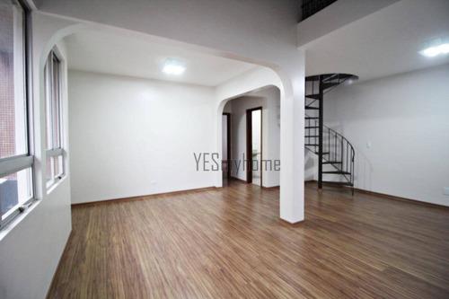 Cobertura Com 3 Quartos À Venda, 145 M² Por R$ 780.000 - Centro - Curitiba/pr - Co0399
