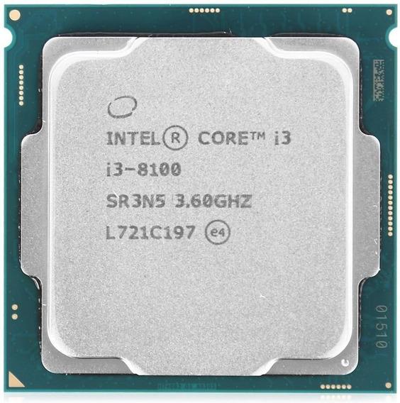 Processador Intel Core i3-8100 CM8068403377308 4 núcleos 64 GB
