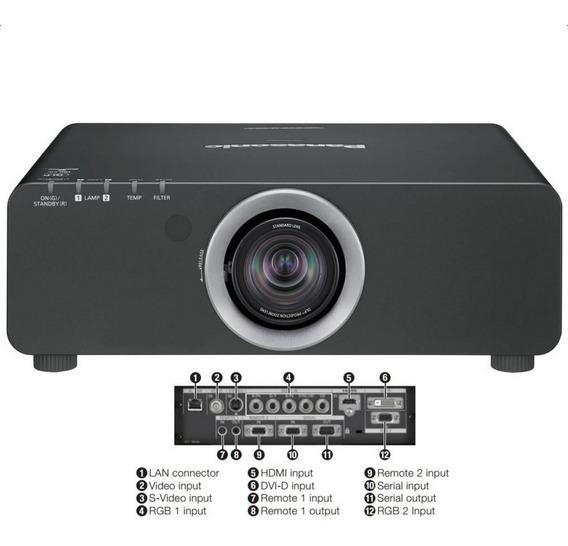Projetor Panasonic Pt-dz680uk 6000 Lúmens Wuxga Dlp Garantia