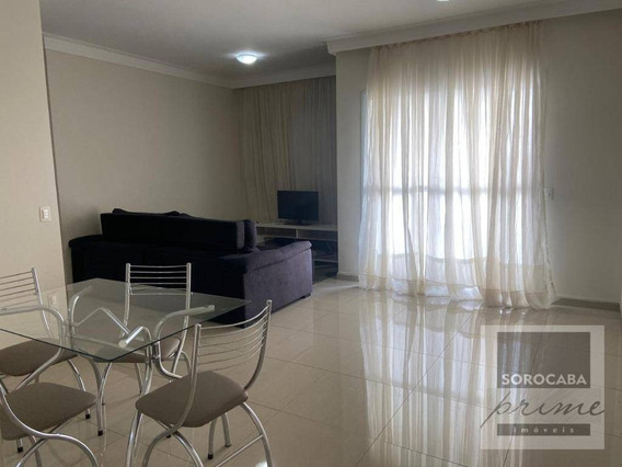 Apartamento Com 3 Dormitórios Para Alugar, 78 M² Por R$ 2.200/mês - Condomínio Vitrine Esplanada - Votorantim/sp, Ao Lado Do Shopping Iguatemi. - Ap0174
