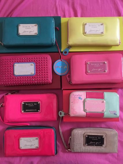 Billetera Original Juanita Jo Color Verdosa Celesteada Linda