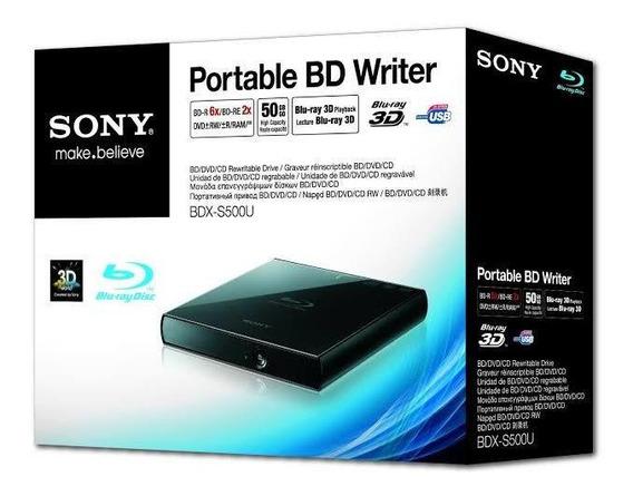 Bdx-s500u Sony Portátil Gravador Blu-ray