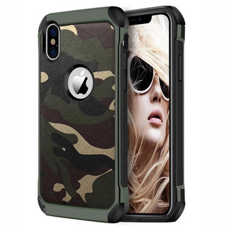 Funda Uso Rudo Militar iPhone 8 7 Plus 6+ 6s X Xr 5 8 Xs Max