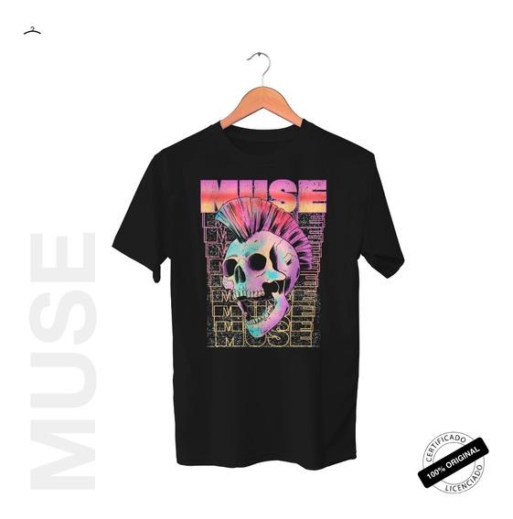 Camiseta Oficial Muse Mohawk Skull 2019