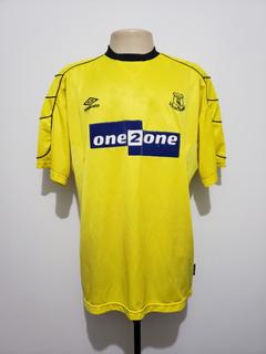 Camisa Futebol Oficial Everton Inglaterra 1999 Away Umbro Gg