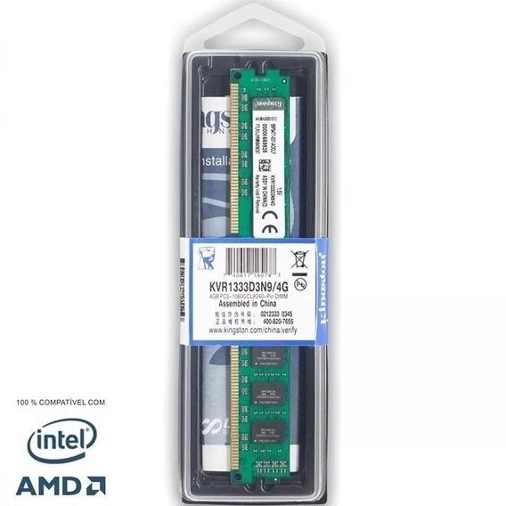 Memória Kingston Ddr3 4gb 1333 Mhz Pc3 10600 Pc Intel / Amd