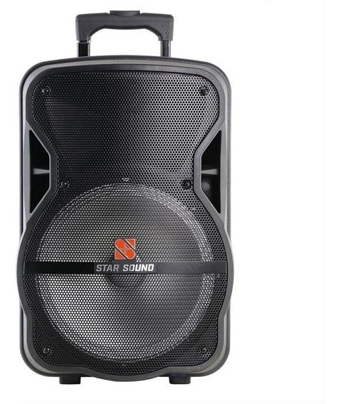 Caixa Ativa 10 C/ Bateria Lit Bt/fm/sd/usb Ss-100 Star Sound