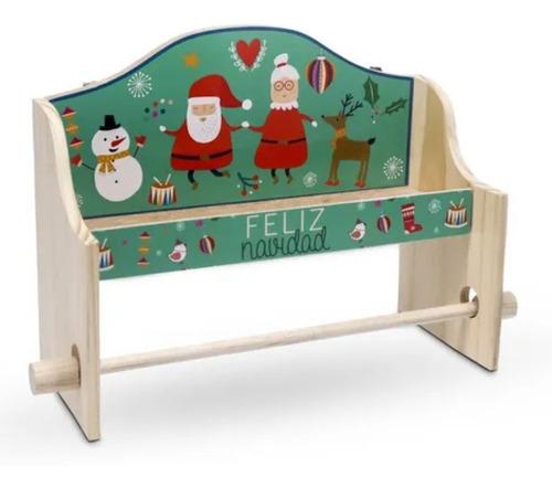 Imagen 1 de 3 de Portarrollo Cocina Santa Y Su Familia Navidad.