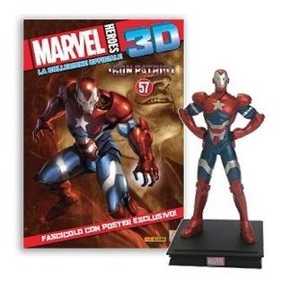 Marvel 3d Figuras De Colección - Nº 19 Iron Patriot - 1/32
