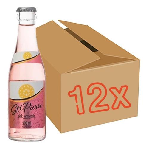 Imagem 1 de 2 de 12x Tônica Pink Lemonade St Pierre Long Neck 200ml