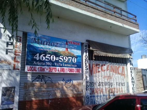 Local De 130 M2 Con Vivienda De 4 Ambientes Y Fondo Libre.