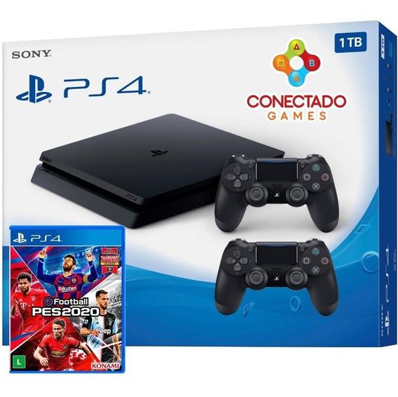 Ps4 Playstation 4 Hd 1tb Slim 2215b 2 Controles Pes 2020
