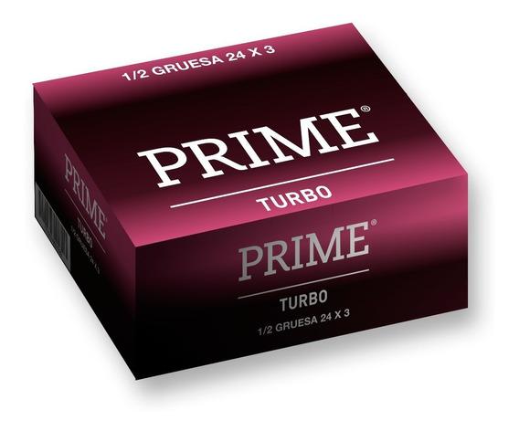 Preservativos Prime Turbo X72 Unidades Doble Lubricacion
