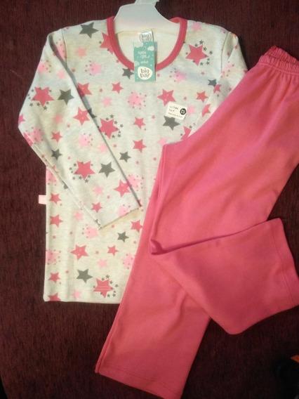 Pijama De Niña Estrellas T2 Al 8. Pantalón Recto !! Big Bay