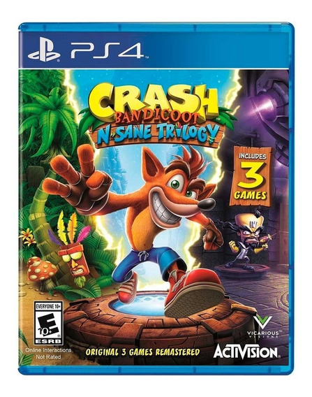 Crash Badicoot N Sane Trilogy Ps4