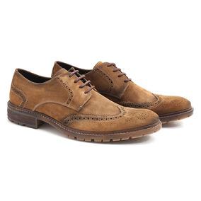 19299d3fe Sapato Brogue Masculino Camurça - Sapatos no Mercado Livre Brasil