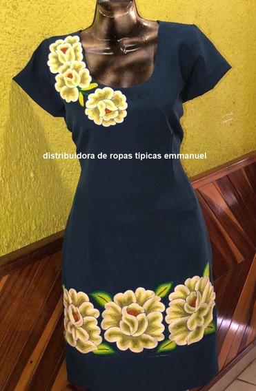 Vestido Con Bordado Istmeño