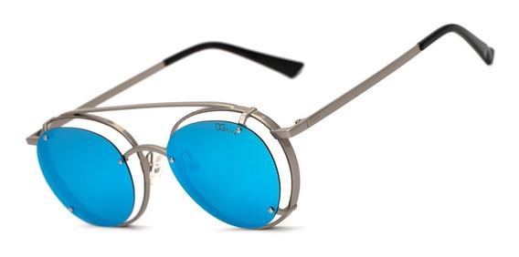 Oculos Ogrife Solar Feminino Og 1461-c Polarizado Uv Redondo