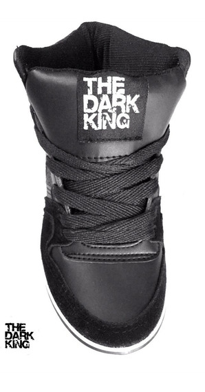 Zapatilla Skate Bota Negra Cuero/gamuza The Dark King Bronx