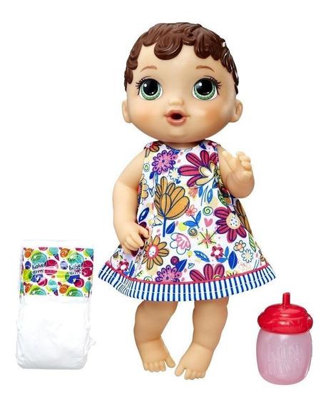 Boneca Baby Alive Hora Do Xixi Morena Original Nota Fiscal