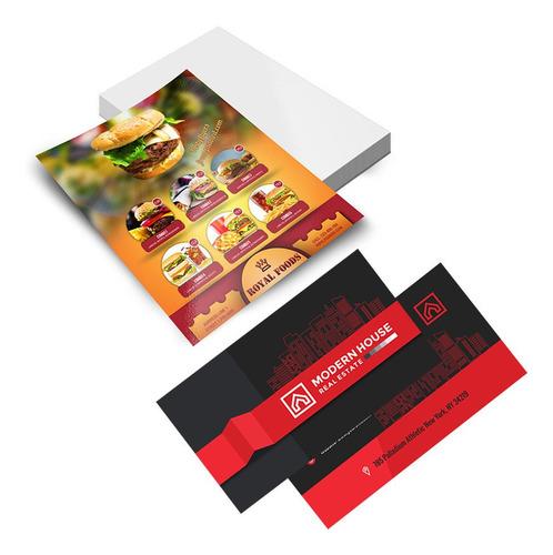 1000 Cartão De Visita + 1000 Panfletos 115gr