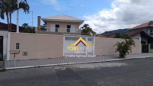 Casa Com 4 Dormitórios À Venda, 180 M² Por R$ 1.200.000,00 - Solemar - Praia Grande/sp - Ca0486