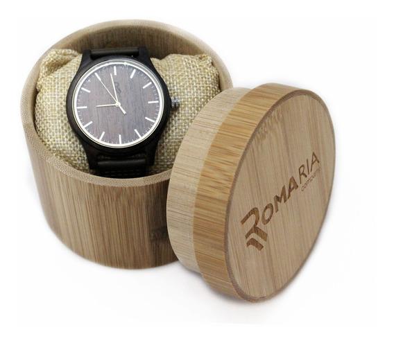 Relógio Feminino Madeira Analógico Com Caixa Envio Imediato