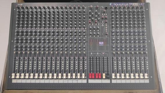 Mesa De Som Soundcraft Lx7 32 Canais (c/ Case) Frete Grátis