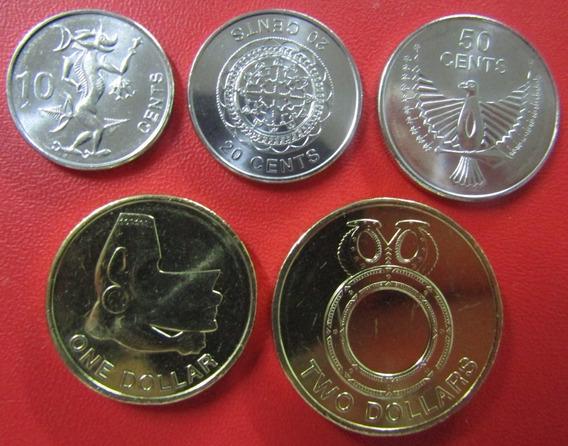 Islas Salomon Set De 5 Monedas 2012 Cent - Dolar Unc
