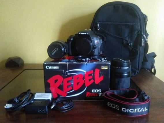Camara Cannon Rebel Eos T3